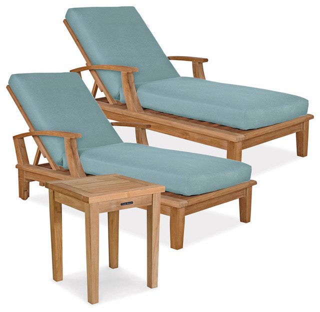Veranda 3pc chaise set in contemporary chaise longue for Chaise longue tours