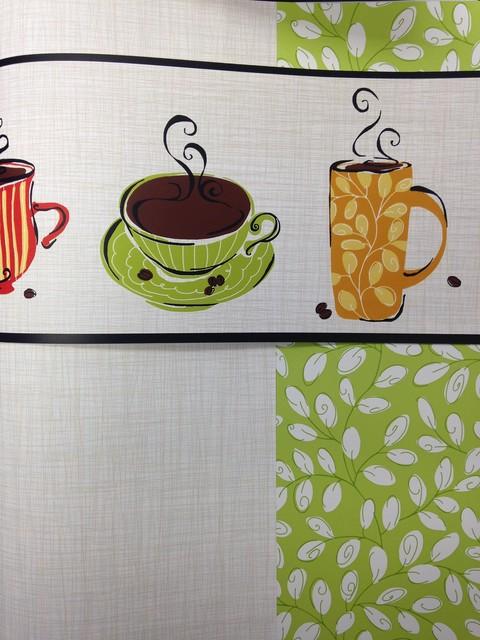 Coffee Wallpaper Border Modern Wallpaper Houston