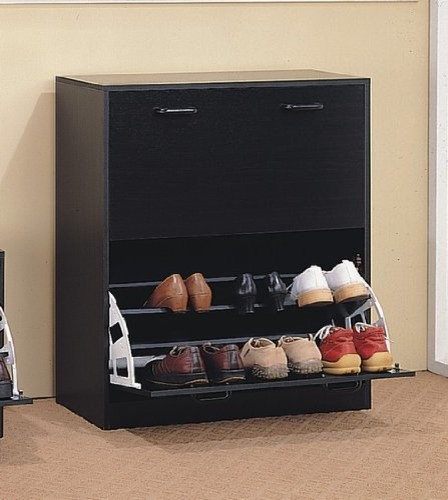 Double cappuccino finish shoe cabinet modern shoe storage by