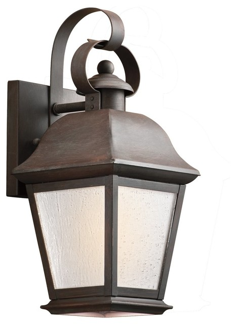 KICHLER 9707OZ Mount Vernon Traditional Outdoor Wall Sconce - Traditional - Outdoor Wall Lights ...