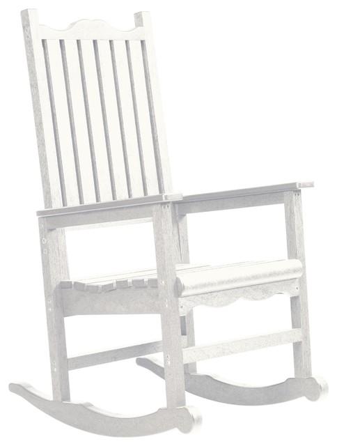 C R Plastics Porch Rocker In White Contemporary