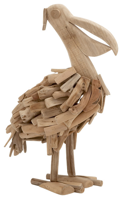 Traditional And Lovely Inspired Style Driftwood Pelican