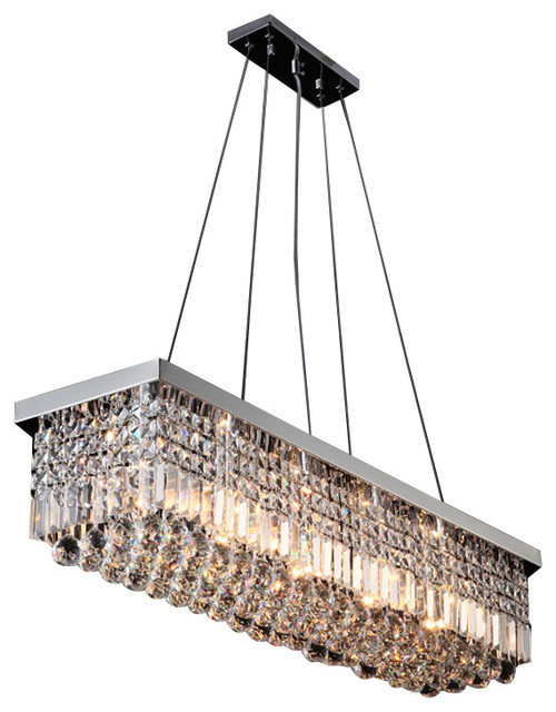 New Contemporary Rectangular Crystal Chandelier Modern Chandeliers By Lightinguuuup