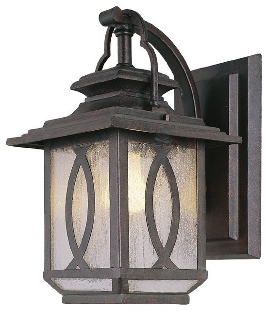Industrial Exterior Wall Sconces : Vintage Industrial Style Chinese Flavor Greenish-Gray Wall Sconce transitional-outdoor-wall ...