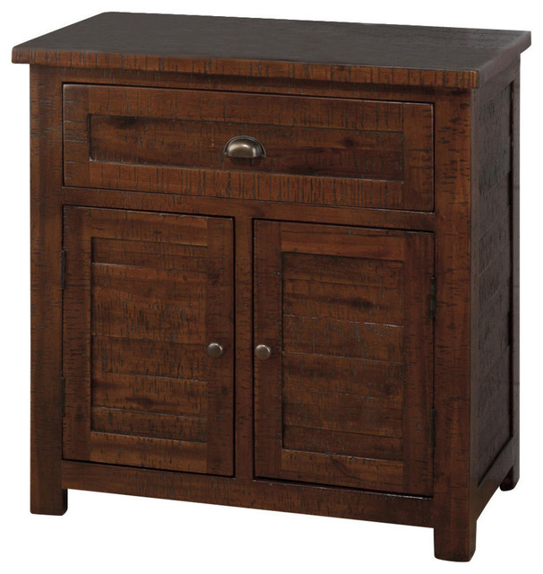 Jofran 730-13 Accent Cabinet in Rough Hewn - Traditional - Accent Chests And Cabinets - by ...