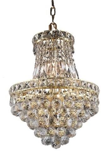 Elegant Lighting 2527D14G Tranquil 6-Light 1 Tier Crystal ...
