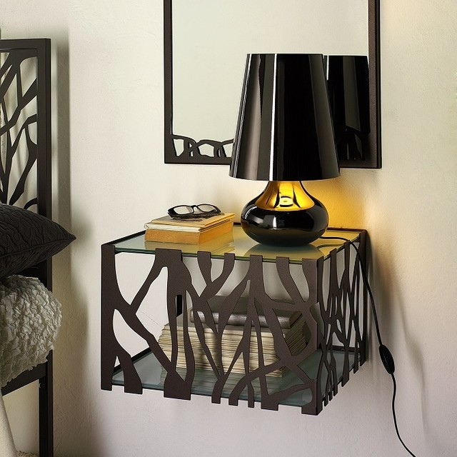 modern metal wall mounted bedside table green by cosatto modern side tables and accent. Black Bedroom Furniture Sets. Home Design Ideas