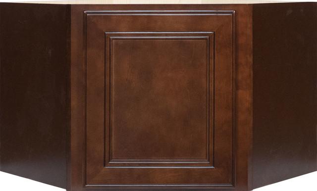 Cherry mahogany brown leo saddle appliance garage wall for Cherry mahogany kitchen cabinets