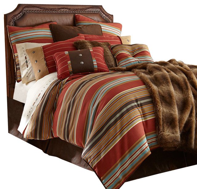 Navajo Striped Comforter Set Queen Southwestern Comforters And Sets