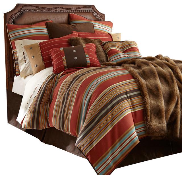 Navajo Striped Comforter Set Twin