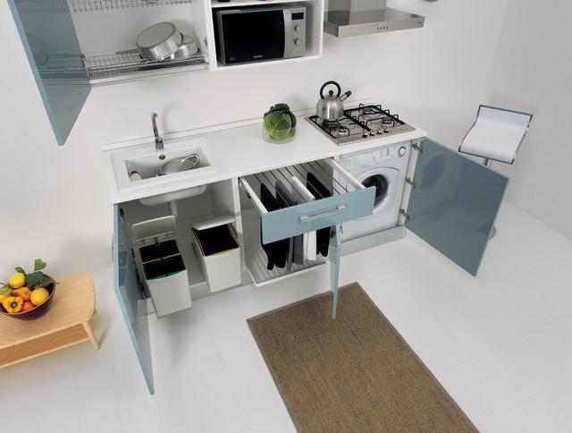 Colavene Smart Kitchen Laundry 3 Moduli Celeste Contemporary Major Kitchen Appliance Parts