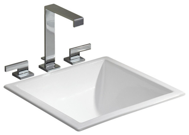 Square Drop In Undermount Basin Bathroom Sinks By