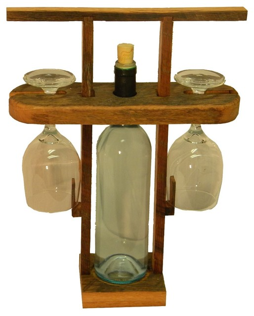 Travel Wine Caddy - Rustic - Wine Racks - by The Rusted Nail
