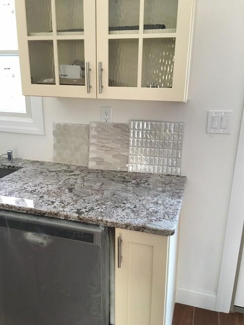 backsplash help for bianco antico granite