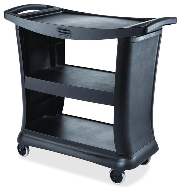 Rubbermaid Commercial Prod. Executive Cart, 3 Shelves, 300 Lb. Total ...