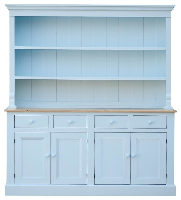 Welsh Hutch, White - Farmhouse - China Cabinets And Hutches - by Sweet ...