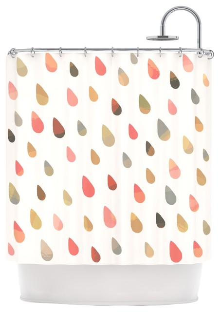 Daisy beatrice opal drops dusk peach white shower for Peach bathroom accessories