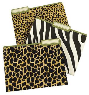 Office Leopard Print Supplies Q
