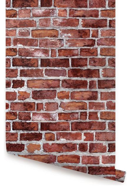 brick wallpaper peel and stick industrial wallpaper