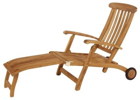 Commodore Long Wheel Steamer Lounge Chair Contemporary