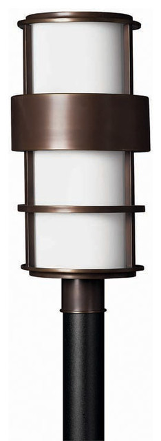 Hinkley lighting 1901 saturn outdoor post light for Contemporary outdoor post light fixtures