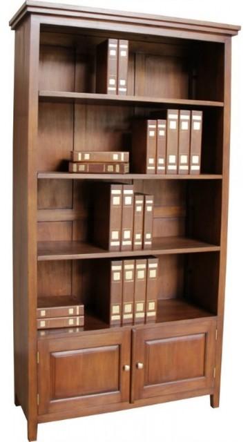 Mahogany New York Bookcase Contemporary Bookcases