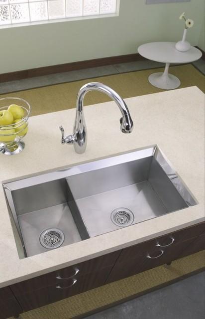 Traditional Kitchen Sinks : Kohler Double Basin Kitchen Sink - Traditional - Kitchen Sinks ...