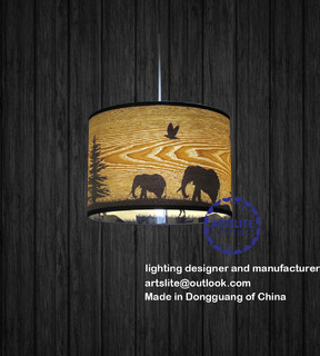 Asian Wood Lighting 119