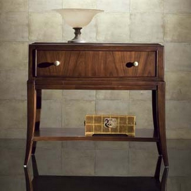 American Drew 591 400 Bob Mackie Home Signature Open Nightstand Traditional Nightstands And