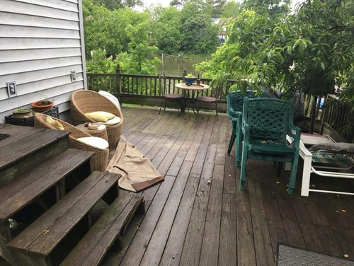 Waterfront deck need bohemian modern makeover advice for Waterfront deck designs