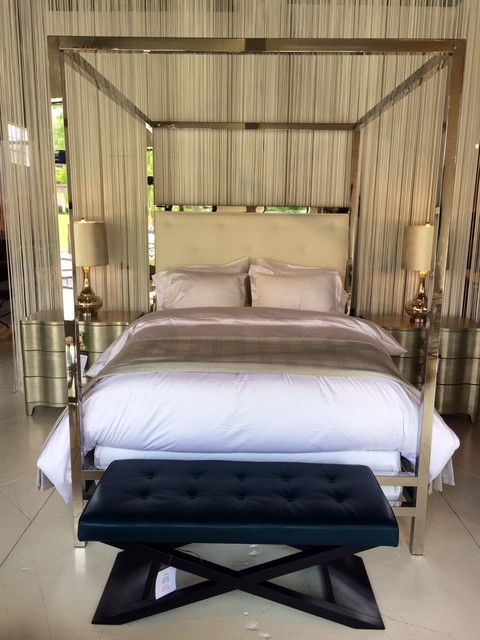 Polished Stainless Steel Canopy Bed - Contemporary - Canopy Beds - Atlanta - by Bed Down