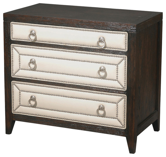 Manhattan 3 Drawer Nightstand Contemporary Nightstands