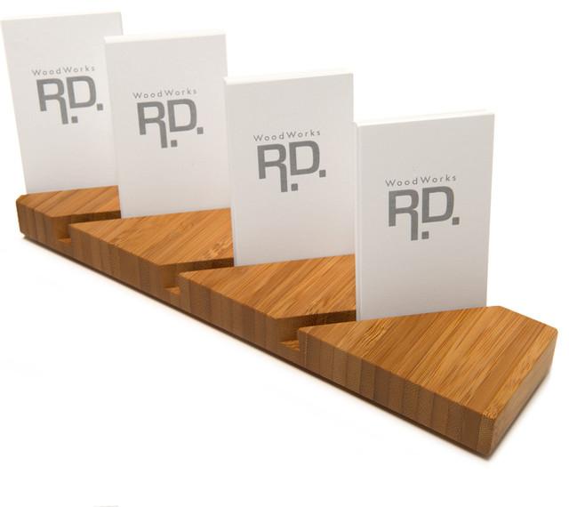 Multiple Vertical Business Card Holder 4 Lots Modern