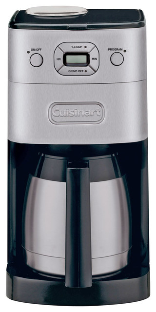 Cuisinart Grind And Brew Coffee Maker White : Cuisinart Grind and Brew Thermal 10-Cup Automatic Coffeemaker - Contemporary - Coffee Makers ...
