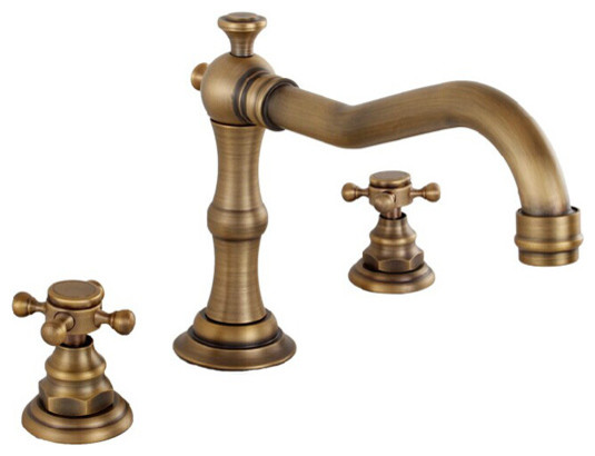 Antique Brass Widespread Bathroom Faucet 6021f Farmhouse Bathroom Faucets And Showerheads