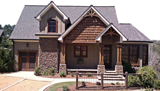 Foot hills cottage traditional exterior atlanta by for Cottage siding ideas
