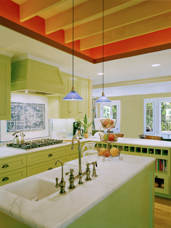 Orange And Lime Green Kitchen : Lime Green, Orange And Brown Kitchen Design Ideas, Remodels & Photos