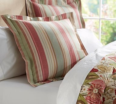 Courtney Stripe Euro Pillow Cover 26 Traditional