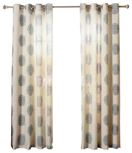 ... Panel, Pair, Blue - Contemporary - Curtains - by Best Home Fashion