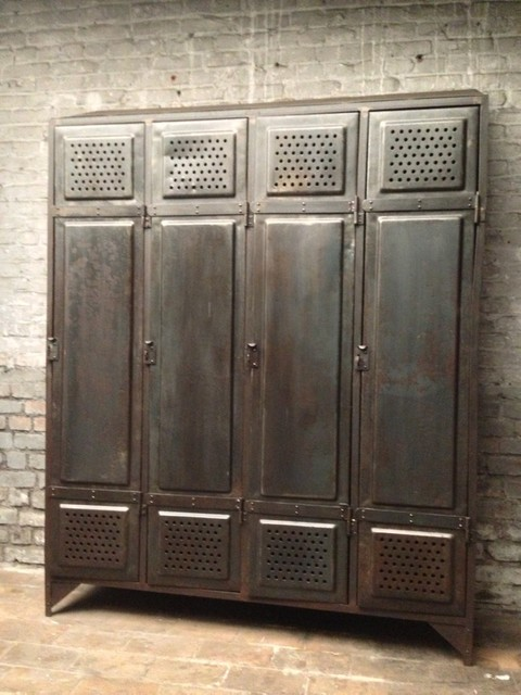 spind aus einer fabrik industrial schr nke von pamono. Black Bedroom Furniture Sets. Home Design Ideas