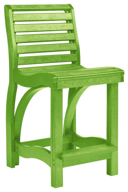 C R Plastics St Tropez Counter Chair In Kiwi Contemporary Garden Lounge