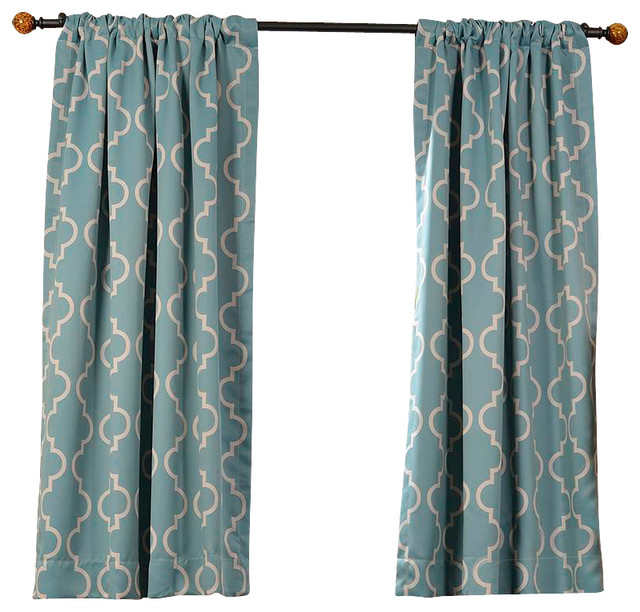 seville dusty teal blackout curtain single panel contemporary curtains