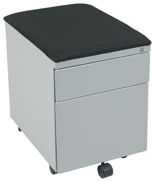 Mobile File With Padded Seat - Contemporary - Filing Cabinets - by Office Star Products