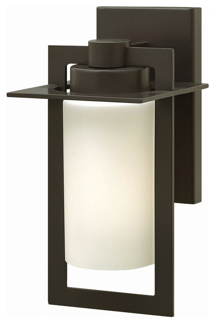 Hinkley Lighting Small GU24 Outdoor Wall Sconce In Bronze Finish Contempora