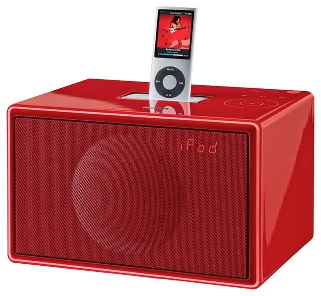 Gemeva Sound System Model S Red - Modern - Home Electronics - new york - by Bobby Berk Home
