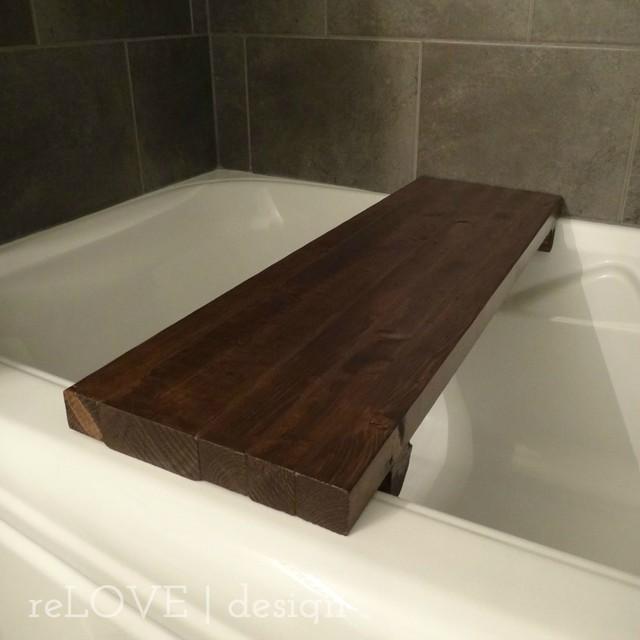 Bathroom Set With Tray : Custom reclaimed wood bath tray rustic bathroom