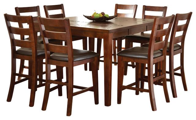 Steve silver davenport 10 piece slate counter table set for 10 piece kitchen table set