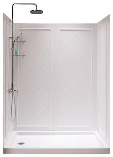 SlimLine Single Threshold Shower Base and Qwall-5 Shower ...