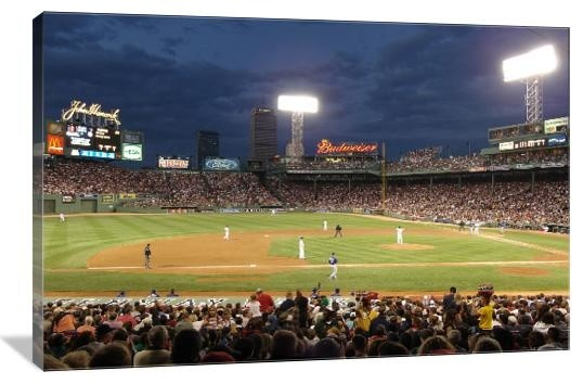 Fenway Park Panoramic 20 Quot X 13 Quot Gallery Wrapped Canvas