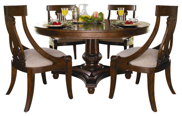 Kincaid Sturlyn Solid Wood Round Pedestal Table Sienna  : traditional furniture from www.houzz.com size 640 x 406 jpeg 76kB